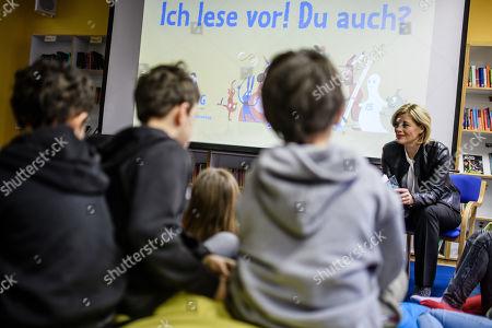 Editorial photo of German Minister Julia Kloeckner participates in Reading Aloud Day 2019, Berlin, Germany - 15 Nov 2019
