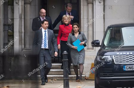Princess Haya Bint al-Hussein of Jordan (R) and her lawyer Baroness Fiona Shackleton (2-R) leave the Royal Courts of Justice in London, Britain, 15 November 2019.  Princess Haya, the estranged wife of the ruler of Dubai, Sheikh Mohammed bin Rashid Al-Maktoum, is in court during a case about their children's welfare.