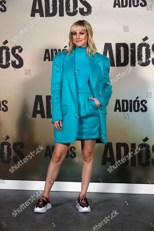 Natalia de Molina poses for the photographers during the presentation of the movie 'Adios' (Goodbye) in Madrid, Spain, 15 November 2019. The thriller movie, directed by filmmaker Paco Cabezas, tells about corruption and drug trafficking in Seville's underworld and opens in Spanish cinemas on 22 November.