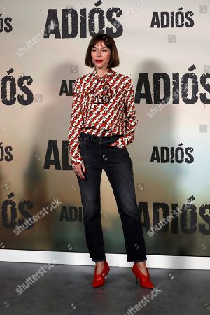 Ruth Diaz poses for the photographers during the presentation of the movie 'Adios' (Goodbye) in Madrid, Spain, 15 November 2019. The thriller movie, directed by filmmaker Paco Cabezas, tells about corruption and drug trafficking in Seville's underworld and opens in Spanish cinemas on 22 November.