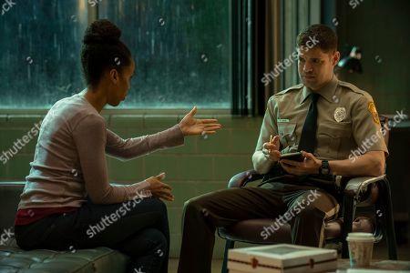 Kerry Washington as Kendra and Jeremy Jordan as Paul Larkin