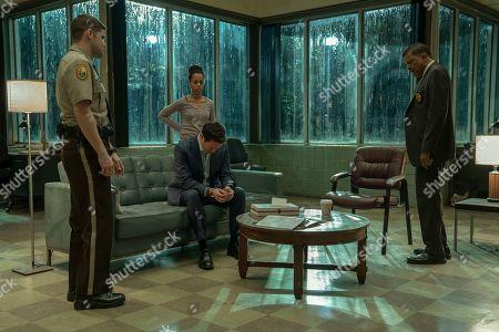 Jeremy Jordan as Paul Larkin, Kerry Washington as Kendra, Steven Pasquale as Scott Connor and Eugene Lee as Lt. John Stokes
