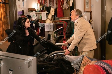 Ep 9936 Wednesday 27th November 2019 - 1st Ep Returning to Richard's flat to help him, Roy Cropper, as played by David Neilson, offers to move his air condenser with Nina, as played by Mollie Gallagher, but she refuses any help, and in doing so injures herself. Roy feels worse than ever.