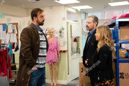 Ep 9945 Friday 6th December 2019 - 2nd Ep Nick Tilsley, as played by Ben Price, and Sarah Platt, as played by Tina O'Brien, secretly meet up with Derek, as played by Craige Els, and agree to buy the factory from him.