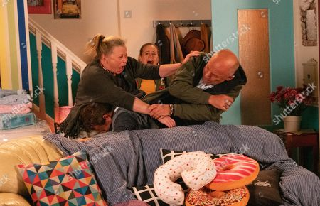 Ep 9935 Monday 25th November 2019 - 2nd Ep Paul Foreman, as played by Peter Ash, confirms that Kel's been arrested and that he'll soon have to give a statement. Bernie Winter, as played by Jane Hazlegrove, tries to make her escape but Kel, as played by Joseph Alessi, steals the house key and holds her hostage in No. 5. Gemma Winter, as played by Dolly-Rose Campbell, and Paul rescue Bernie.