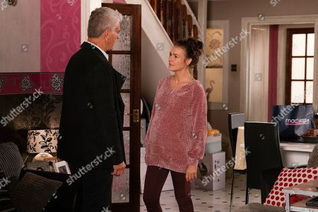 Ep 9929 Monday 18th November 2019 - 2nd Ep Vicky, as played by Kerri Quinn, flies at Robert Preston, as played by Tristan Gemmill, for leading a double life and letting her think he'd split up from Michelle. Tyler sees red and throws a punch at Robert. Vicky's devastated and angrily orders him to leave.