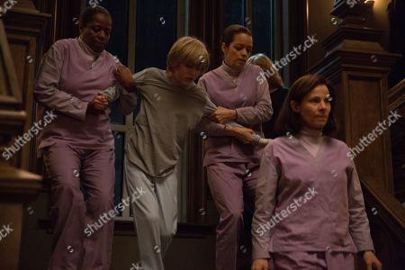 Stock Photo of Deneen Tyler as Nurse Barbara, Charlie Shotwell as Eli, Katia Gomez as Nurse Maricela and Lili Taylor as Dr. Horn