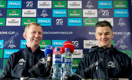 Stock Image of Head coach Leo Cullen and Jonathan Sexton