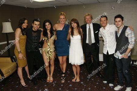 Stock Image of Kara DioGuardi, Gevorg Manukian, Courtney Galiano, Cat Deeley, Katte Shean, Nigel Lythgoe, Benji Schwimmer and Kris Allen