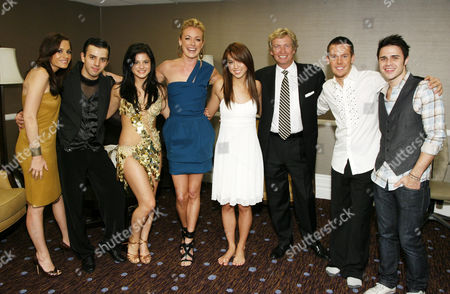Stock Photo of Kara DioGuardi, Gevorg Manukian, Courtney Galiano, Cat Deeley, Katte Shean, Nigel Lythgoe, Benji Schwimmer and Kris Allen