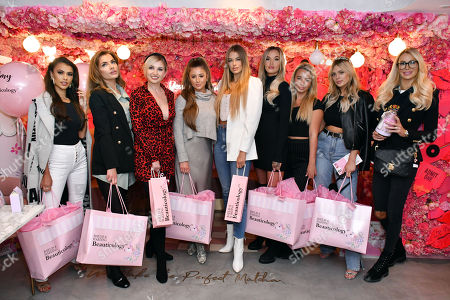 Joanna Chimonides, Maria Wild, Amy Hart, Georgia Steel, Arabella Chi, Lauren Holdsworth, Harley Brash, Danielle Sellers and Olivia Attwood