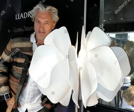 Dutch designer Marcel Wanders poses during an interview with Spanish news agency EFE in Madrid, Spain, 15 November 2019. Wanders, who has collaborated with firms like Louis Vuitton, Baccarat or Puma, stated during the interview that minimalism is for lazies and refused the affirmation of 'less is more'.