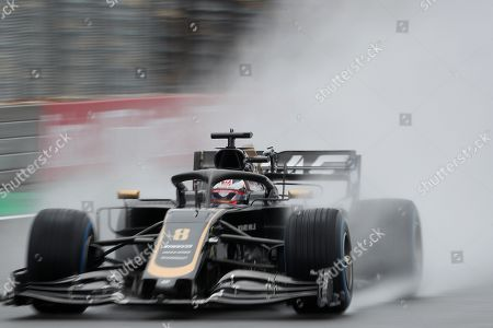 Formula One driver Swiss Romain Grosjean, from team Hass, participates in the first free practice for the Brazilian Grand Prix in Sao Paulo, Brazil, 15 November 2019. The Brazilian Formula One Grand Prix will take place on 17 November 2019 at the Interlagos circuit in Sao Paulo.