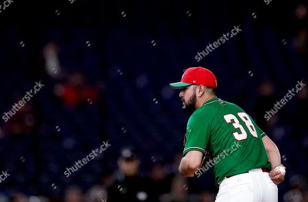 Felipe Gonzalez of Mexico, pitcher, at 5th inning
