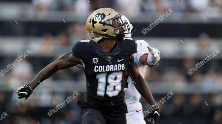 R m. Colorado Buffaloes wide receiver Tony Brown (18) in the second half of an NCAA college football game, in Boulder, Colo. Colorado won 16-13