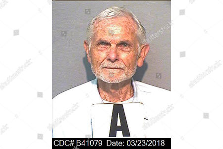 """Stock Photo of This March 23, 2018, photo, provided by the California Department of Corrections and Rehabilitation shows inmate Bruce Davis. A third consecutive California governor is blocking parole for the former follower of late cult leader Charles Manson, 50 years after the hippy """"family"""" terrorized Southern California. Gov. Gavin Newsom, reversed the sixth parole recommendation for Davis, now 77-years old, for the 1969 slayings of musician Gary Hinman and stuntman Donald """"Shorty"""" Shea"""