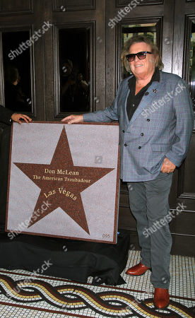 Editorial image of Don Mclean Honored 95th Star on the Walk of Stars, Las Vegas, USA - 14 Nov 2019