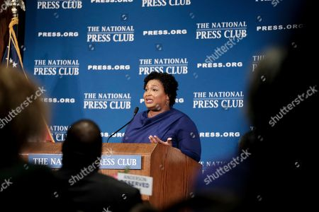 Former Georgia House Democratic Leader Stacey Abrams, speaks at the National Press Club, in Washington