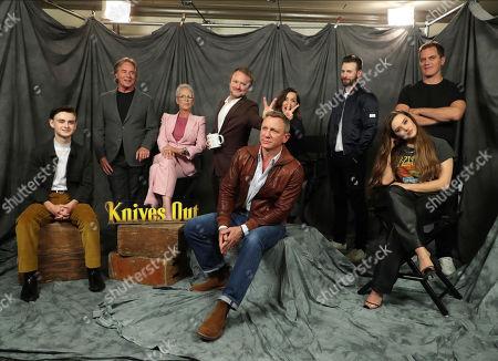 Jaeden Lieberher, Don Johnson, Jamie Lee Curtis, Writer/Director Rian Johnson, Daniel Craig, Ana de Armas, Chris Evans, Michael Shannon and Katherine Langford