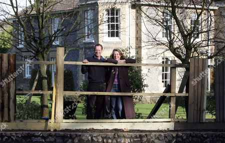 Jane and Philip Jones, who's fence the troop carrier destroyed