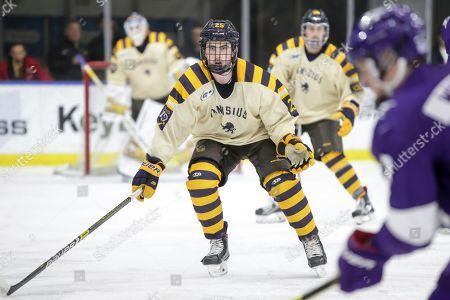 Matt Long (25) of Canisius during an NCAA hockey game on in Buffalo, N.Y