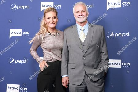 "Kate Chastain and Lee Rosbach attend BravoCon's ""Watch What Happens Live"" red carpet event, in New York"