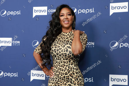 """Kenya Moore attends BravoCon's """"Watch What Happens Live"""" red carpet event, in New York"""