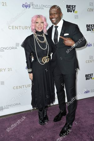 Rebecca Crews, Terry Crews. Rebecca Crews, left, and Terry Crews attend the 2019 Eva Longoria Foundation Dinner Gala at the Four Seasons Hotel, in Los Angeles