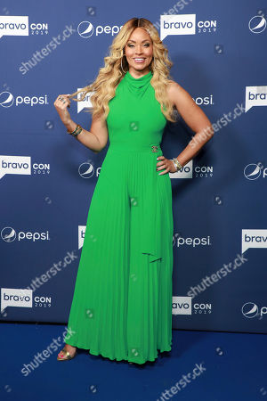 """Gizelle Bryant attends BravoCon's """"Watch What Happens Live"""" red carpet event, in New York"""