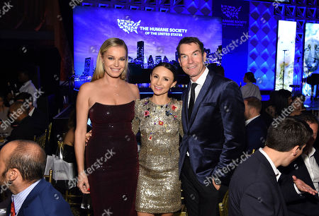 Rebecca Romijn, Georgina Bloomberg, Jerry O'Connell pose for a photo at the Humane Society of the United States To the Rescue! New York Gala on in New York. In its tenth year, the event honored consumer goods company Unilever; MUTTS cartoonist and children's book author Patrick McDonnell; and the Alex & Elisabeth Lewyt Charitable Trust. The evening was hosted by Jerry O'Connell and Rebecca Romijn and featured a performance by singer-songwriter Gavin DeGraw