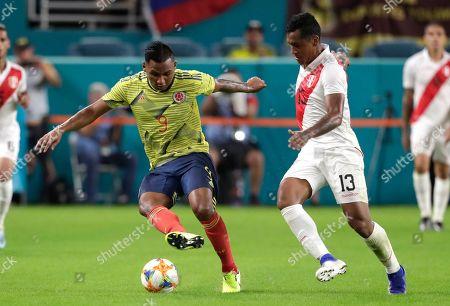Editorial picture of Peru Colombia Soccer, Miami Gardens, USA - 15 Nov 2019