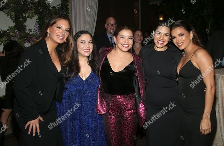 Alex Meneses, Gloria Calderon Kellett, Justina Machado, America Ferrera and Eva Longoria