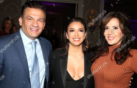Stock Picture of David Barrera, Eva Longoria, Maria Canals-Barrera