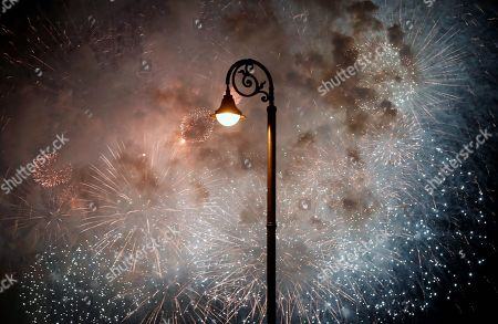 Fireworks explode in the sky during the celebration of the 500th anniversary of the Havana's foundation, in Havana, Cuba, 15 November 2019. On 16 November, Cuba will celebrate the founding of the city of San Cristobal de La Habana by Diego Velazquez de Cuellar.