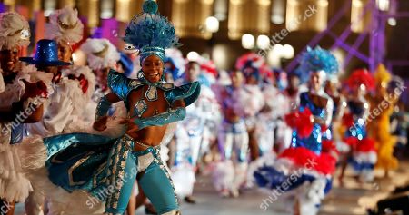 Dancers perform outside the National Capitol Building during the celebration of the 500th anniversary of Havana's foundation, in Havana, Cuba, 16 November 2019. Cuba celebrated 500 years since the founding of the city of San Cristobal de La Habana by Spaniard Diego Velazquez de Cuellar in 1519.