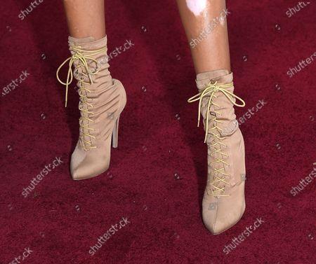 Stock Photo of Winnie Harlow, shoe detail