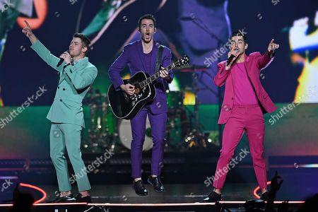 Stock Image of The Jonas Brothers - Nick Jonas, Kevin Jonas and Joe Jonas