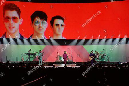 Stock Picture of The Jonas Brothers - Nick Jonas, Kevin Jonas and Joe Jonas