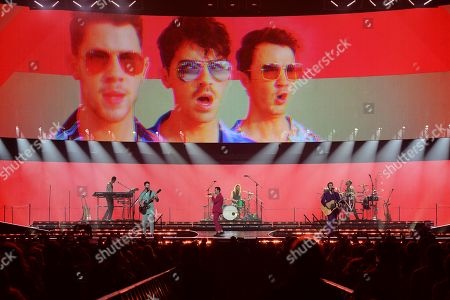Editorial picture of The Jonas Brothers in concert at The BB&T Center, Sunrise, Florida, USA - 15 Nov 2019