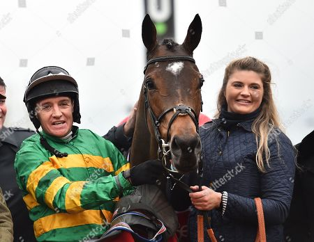 Barry Geraghty, jockey with Defi Du Seuil after winning The Shloer Steeple Chase.