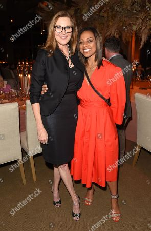 Brenda Strong and Nischelle Turner attend the 'Vintner Circle Dinner' at the Napa Valley Film Festival, St. Helena, CA @NapaFilmFest