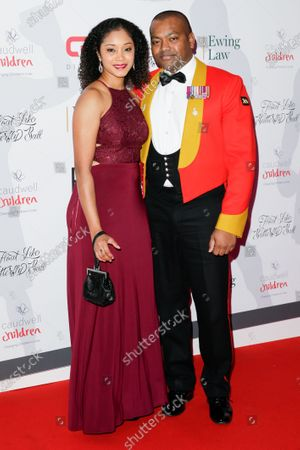 Stock Photo of Johnson Beharry and guest