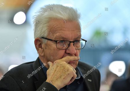 Stock Image of Baden-Wuerttemberg's State Premier Winfried Kretschmann at the Green Party conference in Bielefeld, Germany, 16 November 2019. The German Greens meet from 15 until 17 November in Bielefeld.