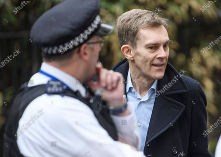Labour Party's Executive Director of Strategy Seumas Milne is seen arriving at a Labour Party meeting in central London to finalise the Party's 2019 General Election manifesto.