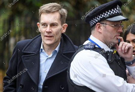 Stock Photo of Labour Party's Executive Director of Strategy Seumas Milne is seen arriving at a Labour Party meeting in central London to finalise the Party's 2019 General Election manifesto.