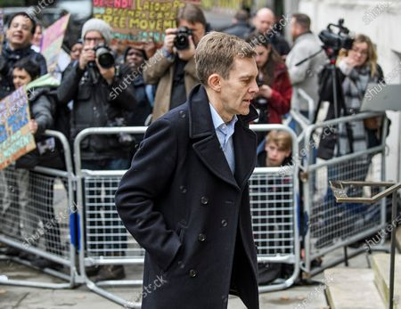 Stock Image of Labour Party's Executive Director of Strategy Seumas Milne is seen arriving at a Labour Party meeting in central London to finalise the Party's 2019 General Election manifesto.