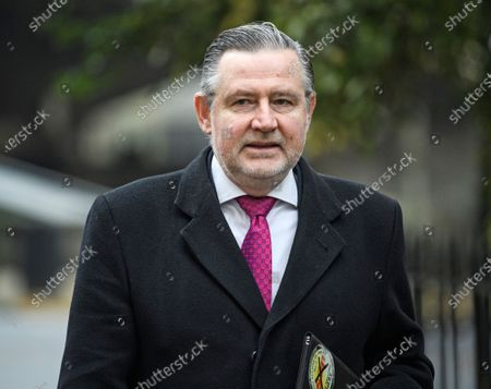 Shadow Trade Secretary Barry Gardiner is seen arriving at a Labour Party meeting in central London to finalise the Party's 2019 General Election manifesto.