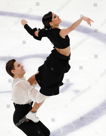 Stock Picture of Spain's Sara Hurtado and Kirill Khaliavin perform during the free dance at the ISU Grand Prix of Figure Skating- Rostelecom Cup in Moscow, Russia