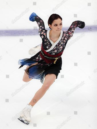 Russia's Evgenia Medvedeva performs her ladies free skating routine at the ISU Grand Prix of Figure Skating- Rostelecom Cup in Moscow, Russia