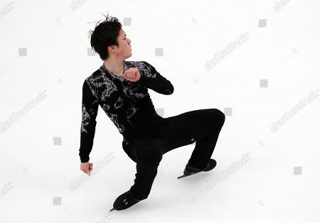 Japan's Shoma Uno performs during the men's free skating at the ISU Grand Prix of Figure Skating- Rostelecom Cup in Moscow, Russia